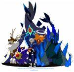 1boy gigalith lugia mizuno_(soutaman) morichika_rinnosuke poke_ball pokemon pokemon_(creature) rotom sawsbuck shedinja starmie touhou