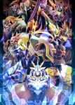 alphamon alphamon_ouryouken armor blue_eyes cape digimon digimon_adventure digimon_adventure_02 digimon_adventure_v-tamer digimon_frontier digimon_tamers digimon_x-evolution dragon_wings duftmon duftmon_x dukemon dukemon_x dynasmon dynasmon_x gauntlets gold green_eyes helmet horns knight lance magnamon magnamon_x monster no_humans omegamon omegamon_x pikkar polearm red_eyes royal_knights shield shoulder_pads spear ulforceveedramon ulforceveedramon_x weapon wings