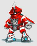 acguy fusion gundam hat hat_feather isshiki_akane mecha mechanization mobile_suit_gundam musclecar no_humans solo vividred_operation wings