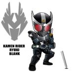 1boy armor belt broken_sword character_name kamen_rider kamen_rider_ryuki kamen_rider_ryuki_(series) male maru_(pixiv587569) mask solo sword weapon