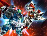90s d-boy glowing glowing_eyes highres mecha pegas platin_(alios) power_armor robot tekkaman_blade