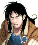 black_eyes black_hair itou_kaiji jacket kaiji long_hair male masao realistic solo tears