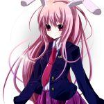 :t blazer bunny_ears long_hair necktie pink_eyes pink_hair rabbit_ears rairateru reisen_udongein_inaba skirt solo touhou very_long_hair