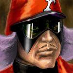 battan bottan face facial_hair gatchaman hat lowres male mask mustache oldschool portrait realistic red_impulse washio_kentaro