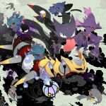 banette chandelure drifloon gastly giratina haunter ladymurkrow lampent litwick misdreavus mismagius no_humans pokemon pokemon_(creature) shuppet