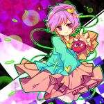 1girl eyeball hairband heart komeiji_satori parmesan_(168n) pink_eyes pink_hair solo third_eye touhou