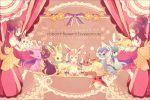 2girls alternate_color alternate_costume bow brown_hair double_bun dress eevee english espeon flareon flower glaceon hair_bow hair_flower hair_ornament high_ponytail jolteon kabocha_torute leafeon mei_(pokemon) multiple_girls pokemon pokemon_(creature) pokemon_(game) pokemon_bw pokemon_bw2 ribbon shiny_pokemon speech_bubble sylveon touko_(pokemon) twintails umbreon vaporeon
