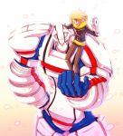 1boy blonde_hair blue_eyes drive_ume heroman heroman_(robot) jacket joey_jones marvel mecha