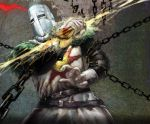 armor chain dark_souls feathers full_armor helmet knight lightning solaire_of_astora sun_(symbol) visor_(armor)
