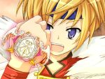 1boy blonde_hair dog_days looking_at_viewer shinku_izumi short_hair solo vfenster