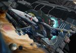 armd armor cannon canopy choujikuu_yousai_macross cockpit gunpod helmet i.t.o_daynamics ichijou_hikaru jolly_roger jupiter macross macross:_do_you_remember_love? mecha missile moon pilot_suit planet realistic science_fiction sdf-1 space space_craft spacesuit u.n._spacy vf-1 vf-1_super vf-1a