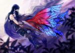 1boy 1girl armor blue_eyes blue_hair butterfly_wings cape father_and_daughter fire_emblem fire_emblem:_kakusei hug krom long_hair lucina moppect sheath sheathed sword tears weapon wings
