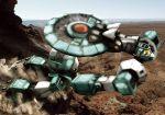 aircraft bonyama desert dust mecha realistic science_fiction sentou_mecha_xabungle walker_gallia