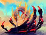 alternate_form building cactus desert giratina painting pokemon pokemon_(creature) purplekecleon rope string