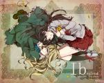 2girls ehoumaki_otoko flower highres ib ib_(ib) mary_(ib) multiple_girls palette_knife rose yellow_rose