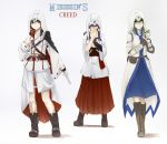 3girls altair_ibn_la-ahad assassin's_creed assassin's_creed_ii assassin's_creed_iii belt black_hair blush boots cape coat connor_kenway cosplay dagger eating ezio_auditore_da_firenze fingerless_gloves gloves green_eyes green_hair hair_tubes hakurei_reimu hakurei_reimu_(pc-98) highres hood kochiya_sanae multiple_girls obi purple_hair red_eyes sash skirt terimayo touhou touhou_(pc-98) violet_eyes weapon