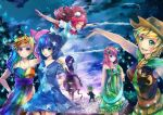 1boy 6+girls applejack fluttershy multiple_girls my_little_pony my_little_pony_friendship_is_magic personification pinkie_pie rainbow_dash rarity spike_(my_little_pony) stephanie_lee twilight_sparkle