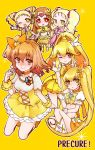 6+girls blonde_hair blush boots breasts brown_eyes brown_hair choker color_connection cure_lemonade cure_muse_(yellow) cure_peace cure_pine cure_sunshine dress earrings flower fresh_precure! futari_wa_precure futari_wa_precure_max_heart hair_flower hair_ornament hair_ribbon heart heartcatch_precure! jewelry kasugano_urara kise_yayoi kujou_hikari long_hair magical_girl midriff multiple_girls myoudouin_itsuki pink_dress ponytail precure red_eyes ribbon shiny_luminous shirabe_ako short_hair sitting skirt smile smile_precure! suite_precure tiara twintails v vest wink wrist_cuffs yamabuki_inori yellow_dress yellow_eyes yes!_precure_5 yukinabe_(pixiv944737)