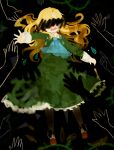 1girl black blonde_hair dress hands ib mary_(ib) matatabi_dango tears